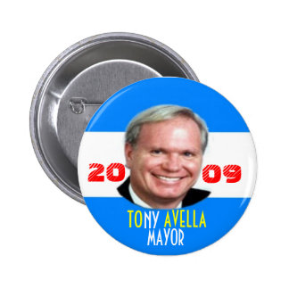 2009 Tony Avella for NY Mayor Pin