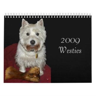 2009 Westies Wall Calendar