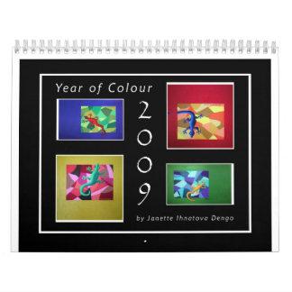 2009 Year of Colour Calendar