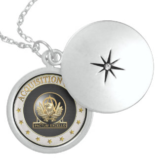 [200] Acquisition Corps (AAC) Regimental Insignia Round Locket Necklace