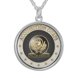 [200] Acquisition Corps (AAC) Regimental Insignia Round Pendant Necklace