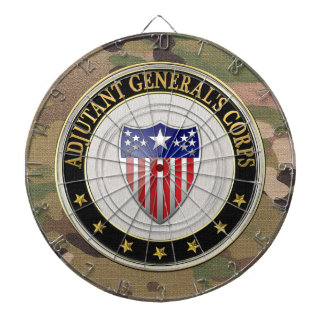[200] Adjutant General's Corps Branch Insignia [3D Dartboard With Darts
