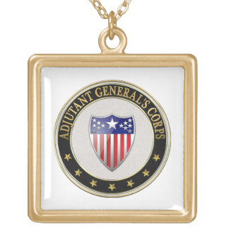 [200] Adjutant General's Corps Branch Insignia [3D Gold Plated Necklace