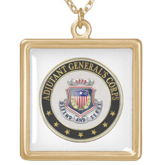 [200] AG Corps Regimental Insignia [3D] Gold Plated Necklace