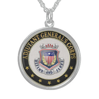 [200] AG Corps Regimental Insignia [3D] Round Pendant Necklace