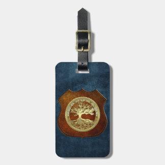 [200] Árbol de la vida céltico [oro] Etiquetas Para Maletas