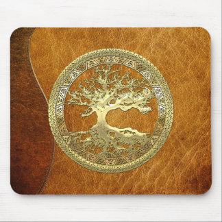 200 Árbol de la vida céltico oro Tapetes De Raton