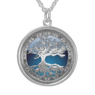 [200] Árbol de la vida céltico [plata] Collares Personalizados