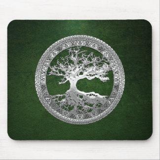 [200] Árbol de la vida céltico [plata] Mouse Pads