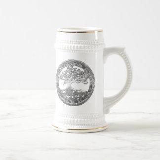 [200] Árbol de la vida céltico [plata] Tazas De Café