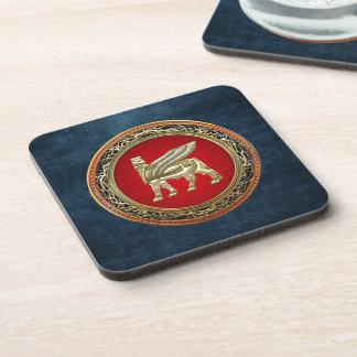 [200] Babylonian Winged Bull Lamassu [3D] Coaster