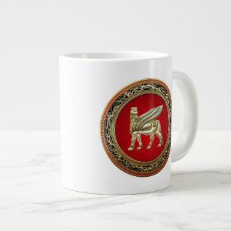 [200] Babylonian Winged Bull Lamassu [3D] Large Coffee Mug