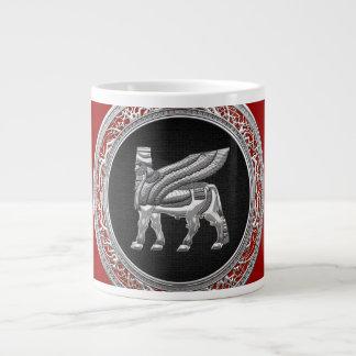 [200] Babylonian Winged Bull [Silver] [3D] Large Coffee Mug