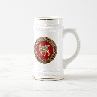 [200] Bull coa alas babilónico Lamassu [3D] Jarra De Cerveza