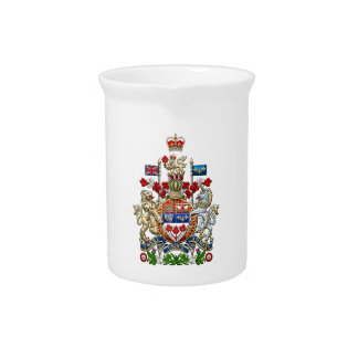 [200] Canada Coat of Arms [3D] Beverage Pitcher