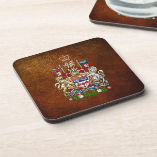 [200] Canada Coat of Arms [3D] Drink Coaster