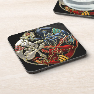 [200] Celtic Sacred Art - Three Dogs Beverage Coaster