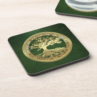 [200] Celtic Tree of Life [Gold] Drink Coaster