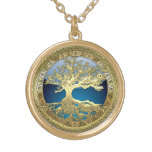 [200] Celtic Tree of Life [Gold] Gold Finish Necklace