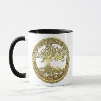 [200] Celtic Tree of Life [Gold] Mug