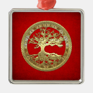 [200] Celtic Tree of Life [Gold] Christmas Ornament