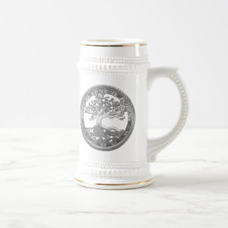 [200] Celtic Tree of Life [Silver] Beer Stein