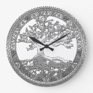 [200] Celtic Tree of Life [Silver] Wall Clock