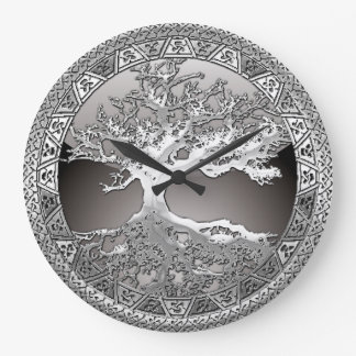 [200] Celtic Tree of Life [Silver] Large Clock