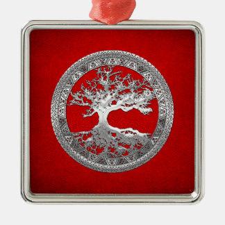 [200] Celtic Tree of Life [Silver] Christmas Tree Ornaments