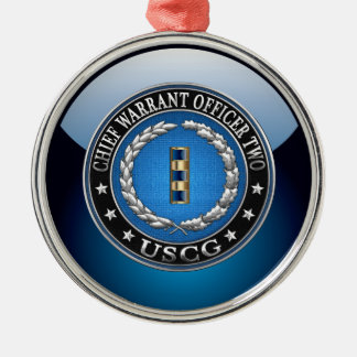 [200] CG: Chief Warrant Officer 2 (CWO2) Metal Ornament