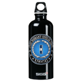 [200] CG: Chief Warrant Officer 3 (CWO3) Aluminum Water Bottle