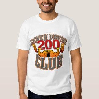 200 Club Bench Press Muscle TShirt