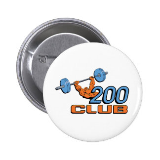 200 Club Pinback Button