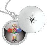 [200] Cruz atractiva (Croix color de rosa) Medallón