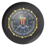 [200] Edición especial del FBI Platos Para Fiestas