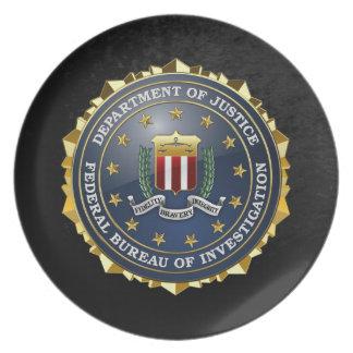 200 Edición especial del FBI Platos Para Fiestas
