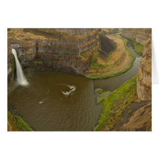 200 foot high Palouse Falls State Park in Card
