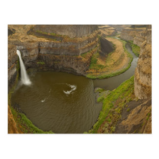 200 foot high Palouse Falls State Park in Postcard