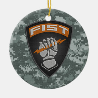 [200] Forward Observer (FIST) [Patch] Ceramic Ornament