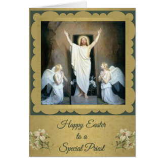 Catholic easter gifts on zazzle 200 happy easter to a catholic priest card negle Choice Image
