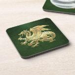 [200] Icelandic Dragon, Landvættir [Gold] Coaster