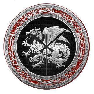 [200] Icelandic Dragon, Landvættir [Silver] Clocks