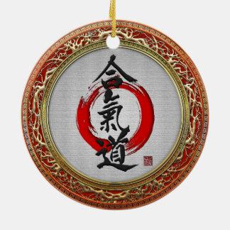 [200] Japanese calligraphy - Aikido Ceramic Ornament