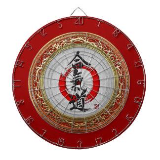 [200] Japanese calligraphy - Aikido Dartboard With Darts