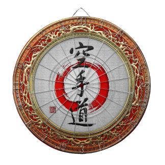 [200] Japanese calligraphy - Karate-do Dartboard With Darts