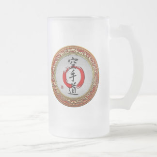 [200] Japanese calligraphy - Karate-do Frosted Glass Beer Mug