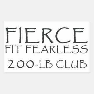 200-lb Club Sticker