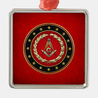 [200] Masonic Square and Compasses [3rd Degree] Metal Ornament