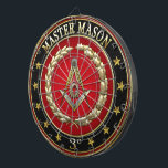 """[200] Master Mason, 3rd Degree [Special Edition] Dartboard<br><div class=""""desc"""">Introducing """"Sacred Symbols 3D: Masonic Symbols"""" Collection by C.7 Design Studio. Here you will find fully customizable gifts, featuring a symbol of Masonic Square and Compasses (Master Mason, 3rd Degree). The Square and Compasses (or, more correctly, a square and a set of compasses joined together) is the single most identifiable...</div>"""