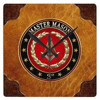 [200] Master Mason, 3rd Degree [Special Edition] Square Wall Clock